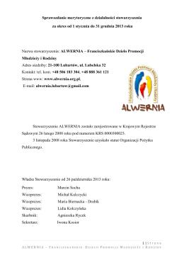 2013 - Alwernia