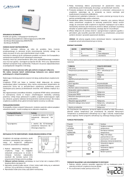 Instrukcja RT500