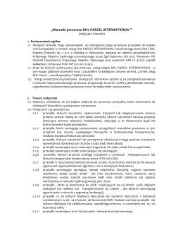 Warunki przewozu DHL Parcel International (Type: PDF, Size: 55.61