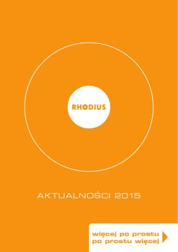 AKTUALNOŚCI 2015 - Rhodius Schleifwerkzeuge