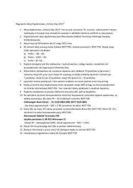 "Regulamin Akcji Dyplomowej ""Victory Day 2015"" 1"