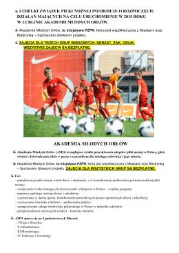 AKADEMIA MŁODYCH ORŁÓW - Lubelski Związek Piłki Nożnej