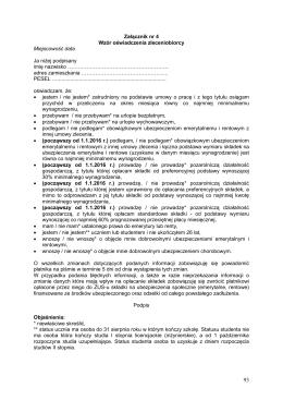 Wzór oświadczenia zleceniobiorcy