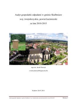 Audyt gospodarki odpadami Skalbmierz – Jacek Pietrzyk