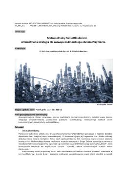 Metropolitalny SunsetBoulevard. Alternatywna strategia dla rozwoju