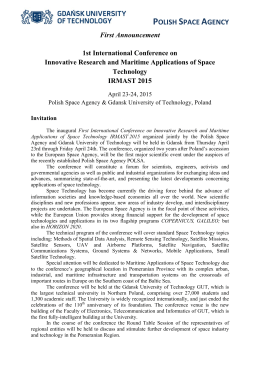 polish space agency - 1st International Conference on Innovative