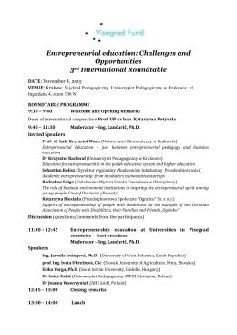 Entrepreneurial education - Wydział Pedagogiczny