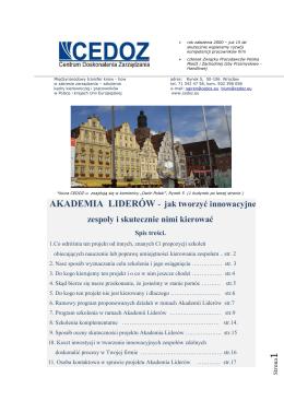 Akademia Liderów_nowatorski projekt 2015