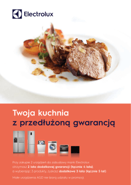 Twoja kuchnia z przedłużoną gwarancją