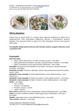 ofertą obiadową