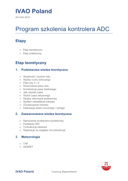 IVAO Poland Program szkolenia kontrolera ADC