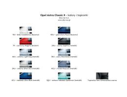 Opel Astra Classic II – kolory i tapicerki - Dixi-Car