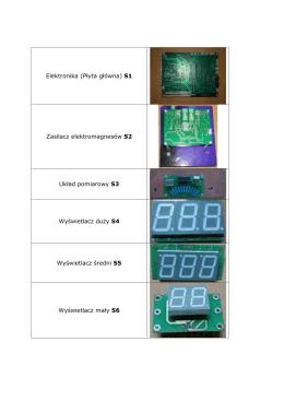Elektronika (Płyta główna) S1 Zasilacz elektromagnesów S2 - X -line