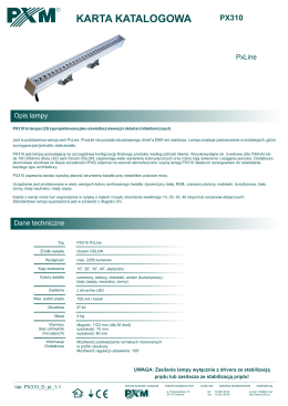 PX310 karta katalogowa, wersja: 1.1