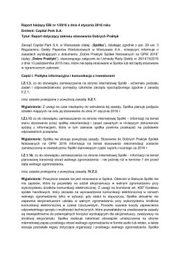 Raport bieżący EBI nr 1/2016 z dnia 4 stycznia 2016