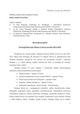 Recenzja_strategii rozowju mista by PP