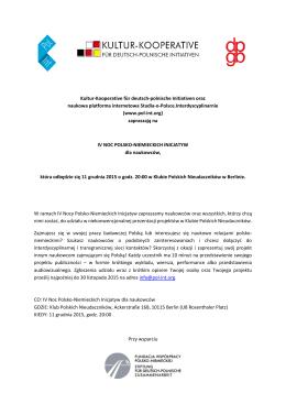 Kultur-Kooperative für deutsch-polnische Initiativen oraz naukowa