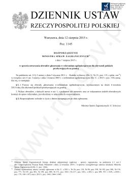 Dz.U. 2015 r. poz. 1145