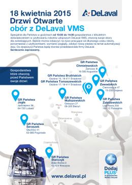 Drzwi Otwarte obór z DeLaval VMS 18 kwietnia 2015