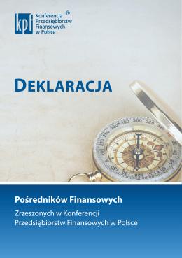 Deklaracja Pośredników Finansowych