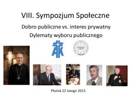 Sympozjum Społeczne 22 lutego 2015 nt.