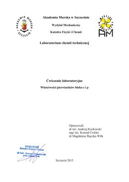 karta ćwiczenia - Akademia Morska w Szczecinie