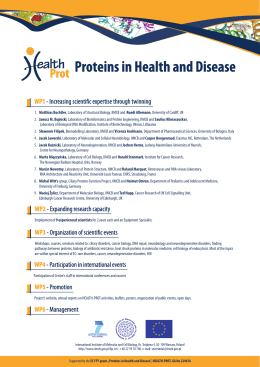 HEALTH-PROT poster - International Institute of Molecular and Cell