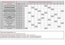 Kalendarz szkoleń UK Londyn