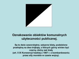 Oznakowanie obiektów komunalnych