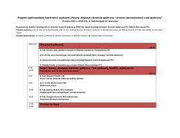 """Program ogólnopolskiej konferencji naukowej """"Normy"""