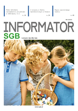 Informator SGB 2/2015 - Spółdzielcza Grupa Bankowa