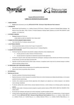 Regulamin - Instalacje - Międzynarodowe Targi Poznańskie