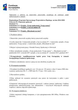 Ogłoszenie o naborze na stanowisko pracownika socjalnego do