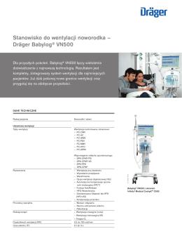 Stanowisko do wentylacji noworodka Dräger Babylog® VN500