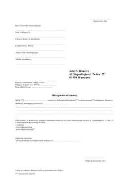 Artel S. Domitrz Al. Niepodległości 154 lok. 27 02-554