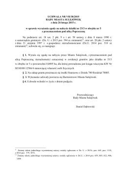 VII/38/2015 w sprawie wyrażenia zgody na nabycie działki nr 33/3 w