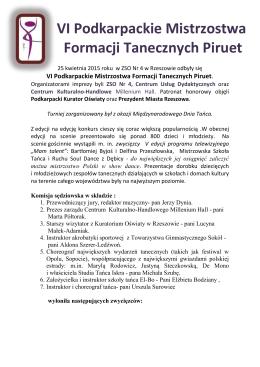 VI Podkarpackie Mistrzostwa Formacji Tanecznych Piruet