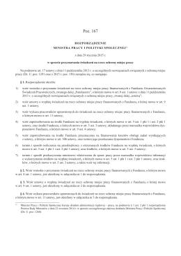 Rozporządzenie MPiPS z dnia 29.01.2015 r. w sprawie