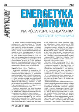 Energetyka jądrowa na półwyspie koreańskim – Krzysztof Rzymkowski