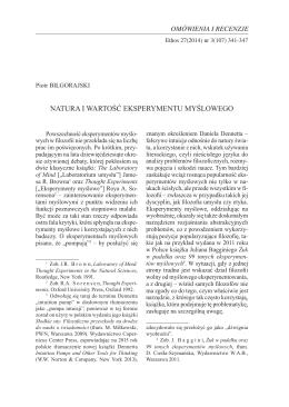 natura i wartość eksperymentu myślowego