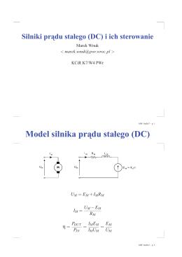 Napędy elektryczne (silniki DC, mostki, wybrane problemy sterowania)