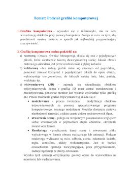 Temat: Podział grafiki komputerowej