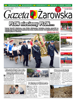 Gazeta Żarowska Nr 14/2015