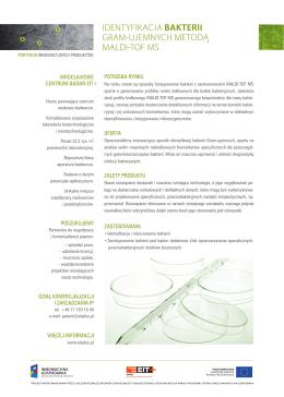 Identyfikacja bakterii gram-ujemnych metodą maldi