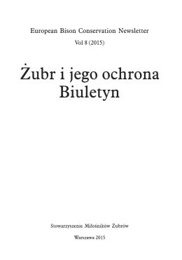 The European bison in Belarus - Stowarzyszenie Miłośników Żubrów