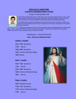 REKOLEKCJE ADWENTOWE w parafii św