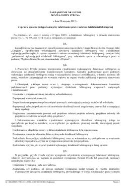 ZARZĄDZENIE NR 152/2015
