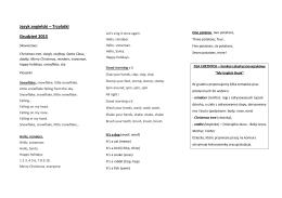 Język angielski – Trzylatki Grudzień 2015