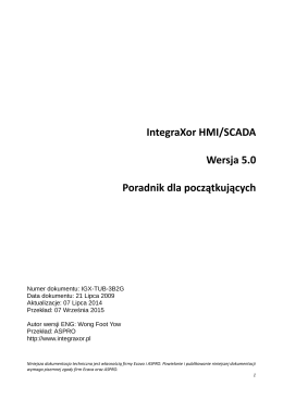 Pobierz (ok. 4MB) - SCADA HMI IntegraXor