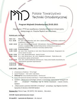 Program Majówki Ortodontycznej 29.05.2015